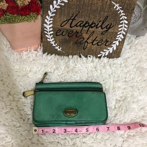 Green Fossil wallet